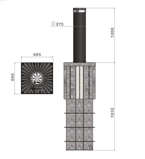 Słupek antyterrorystyczny K275F-M50_1