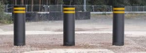 Słupki antyterrorystyczne o wytrzymałości 12 ton 80 km/h płytki fundament PAS68 IWA14 ASTM 2656