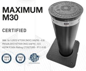 Słupek antyterrorystyczny RISE MAXIMUM M30 IWA 14.1 PAS 68