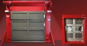 Bramy garażowe przemysłowe w klasie bezpieczeństwa RC3 i RC5 a także bramy kuloodporne zgodne z normą DIN EN 1522 w klasie odporności FB4 NS